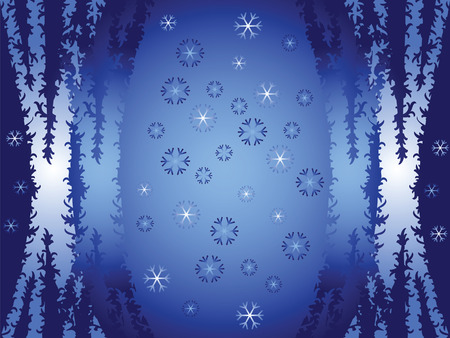 Abstract background. Christmas, winter, snow patterns. Use shades of blue. Stock Vector - 6231890