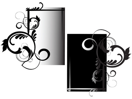 Two versions of the framework. Used black and white.  Vector