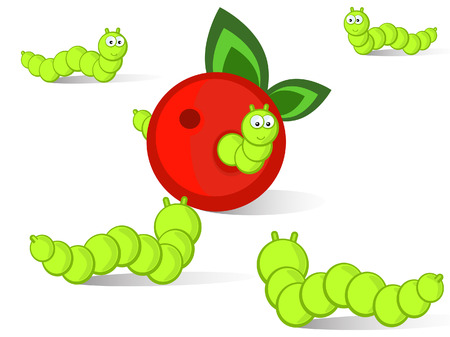 Ridiculous caterpillars will run together to an apple.