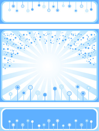 Set abstract background and decorative elements. Blue color. Winter. Stock Vector - 8332517
