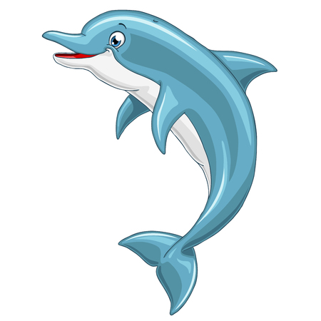 pleasure: The lovely cheerful smiling dolphin jumps over water, sharing the pleasure with people around