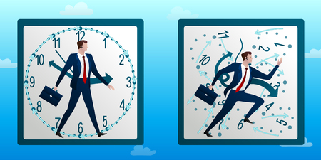 Businessman runs against on chaotic hours