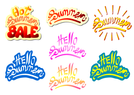 Set lettering summer multi color