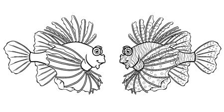 Loinfish on a white background Фото со стока