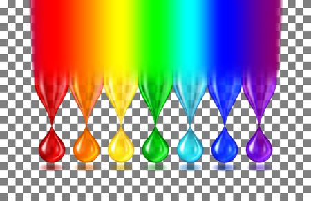 Rainbow color drops Иллюстрация