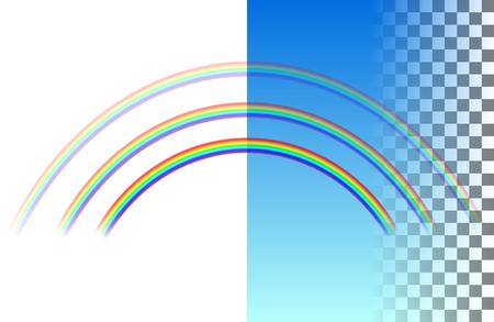 Threefold semicircular translucent rainbow