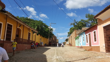 A typical street in Trinidad in Cuba