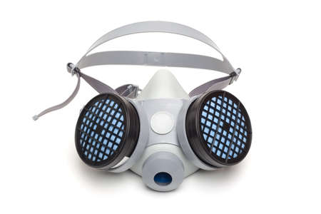 Toxic dust respirator on a white background.