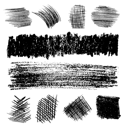 hatching: Artistic vector set of pencil hatching. Hand drawn collection