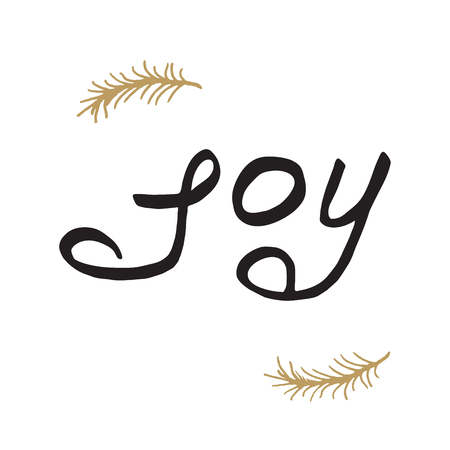 decrepit: Greeting card - joy. Merry Christmas background with typography, lettering.