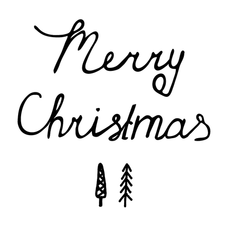 decrepit: Lettering calligraphy, Greeting Xmas card Merry Christmas background, holiday illustration