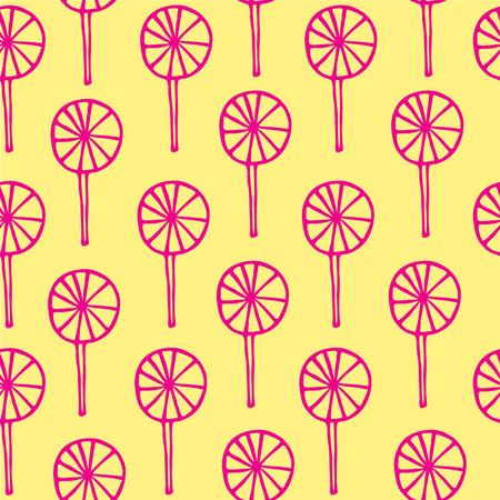 sweetmeats: Seamless pattern lollipops vector sweetmeats lime magenta