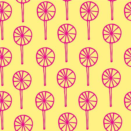 sweetmeats: Seamless pattern lollipops vector sweetmeats lime magenta