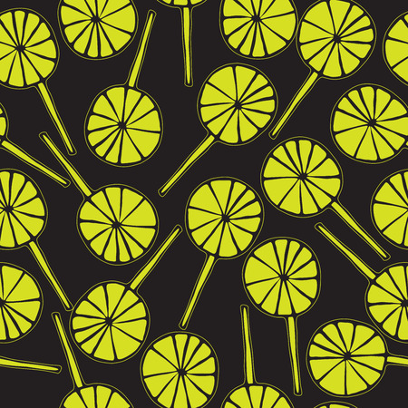 sweetmeats: Seamless pattern lollipops vector sweetmeats lime green Illustration