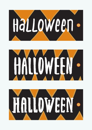 set of halloween gift tags cute and scary labels templates vector