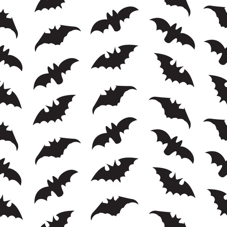 a nocturne: Halloween Seamless pattern with bats. Vector illustration.