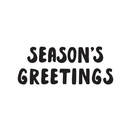 postcard design: Handwritten phrase Merry Christmas Greeting Card with hand drawn lettering design. Vector illustration. Holidays Postcard Illustration