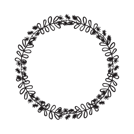 genuine: Hand drawn wreath. Floral design elements for invitations, greeting cards, scrapbooking, quotes, blogs posters
