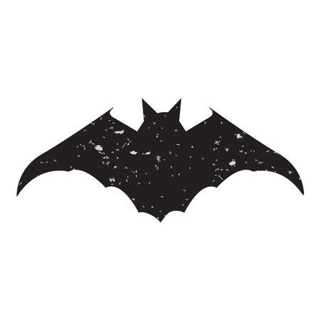 vampire bats: Halloween background overlays label on textured slhouettes bat. Vector element