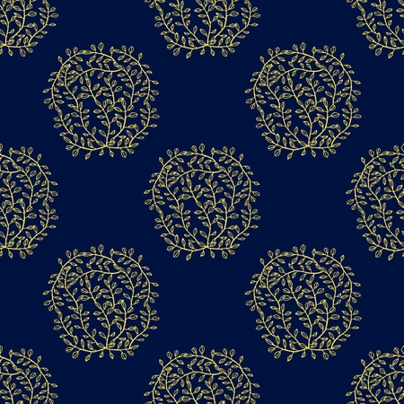 Ethnic boho hand drawn seamless patterns. Floral Vintage repeating backgrounds