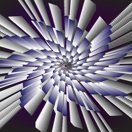 Bright vector abstraction on a dark background, vector illustration, spiral