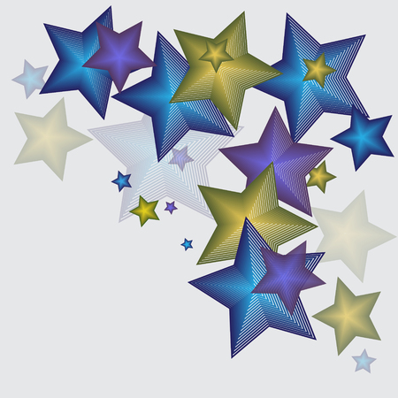 Bright stars on a gray background, graphic