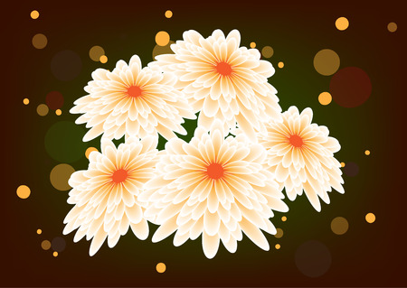 bright floral design, white flowers, vector illustration. White daisy flowers field background. vector illustration. Perspective composition Eps10.