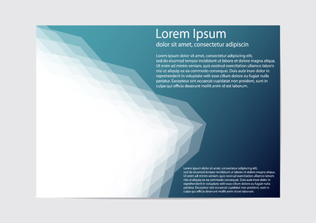 The layout design of the brochure template. Catalog, magazine, flyer. Creative concept of modern bright coating. 矢量图像