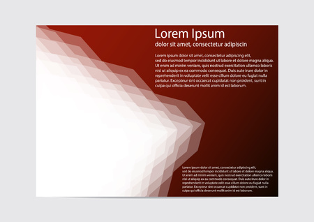 The layout design of the brochure template. Catalog, magazine, flyer. Creative concept of modern bright coating. Ilustração
