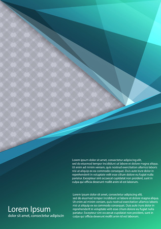 The layout design of the brochure template. Catalog, magazine, flyer. Creative concept of modern bright coating. Illustration