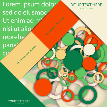 The layout design of the brochure template. Catalog, magazine, flyer. Circle, ring, color