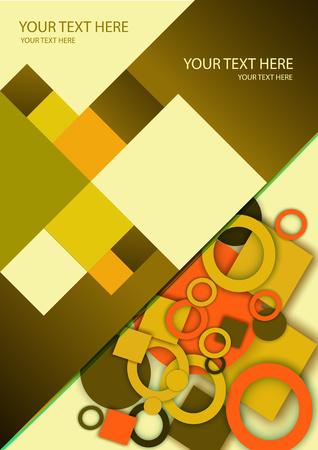 Il design del layout del modello di brochure. Catalogo, rivista, volantino. Cerchio, anello, colore