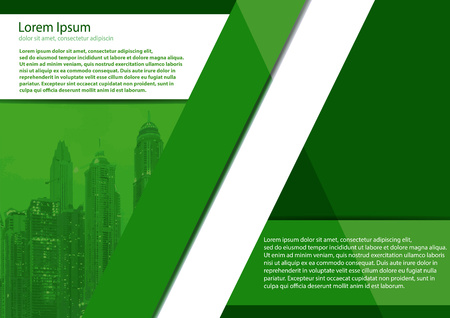 The layout design of the brochure template. Catalog, magazine, flyer. Urban concept with buildings. City creative panorama, perfect for town or city related illustration
