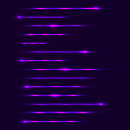 Tech abstract background with glowing lines, neon stripes, vector illustration, eps10