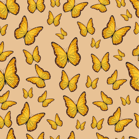 Vector butterfly pattern. Abstract seamless pattern.