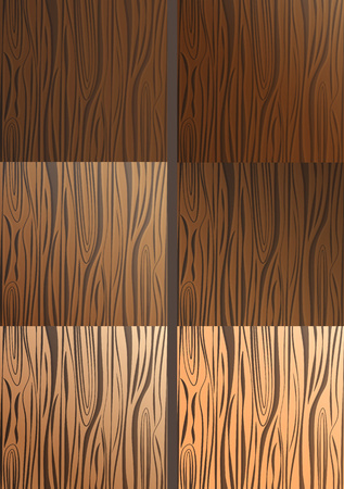 Set of vector wooden textures. Light and dark wood texture. Vector illustration.