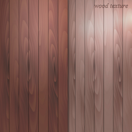 Realistic set of wood textures. Color pattern of parquet, laminated board. Vector illustration.