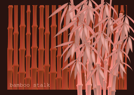 Abstract background of bamboo trees. Bamboo stalks. Vector illustration of tropical plants for your design. Ilustração