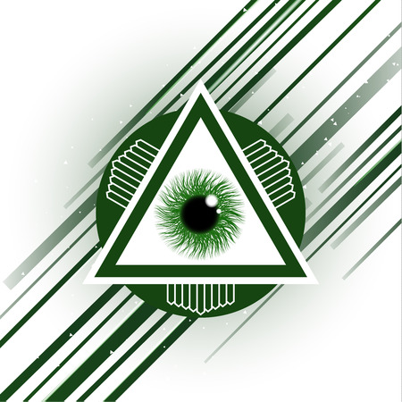 The symbol of the all-seeing eye of God. Modern creative design on a white background. Vector illustration.