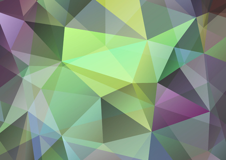 Multicolor polygonal illustration, which consists of triangles. Abstract geometric design for your business. - Vector graphics