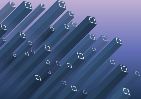 Modern Isometric Background. Colorful vector structure with parallelepipeds. Can be used in web design and as wallpaper or background. - Vector graphics