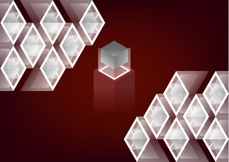 Trend isometric geometric pattern colored background with bright blocks and rhombuses, cube icons. Can be used in web design and as wallpaper or background. Perfect background for your design projects. - Vector graphics Vectores