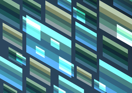 Bright modern isometric abstract composition of rectangles and stripes. Perfect background for your design projects. Vector graphics. Vecteurs