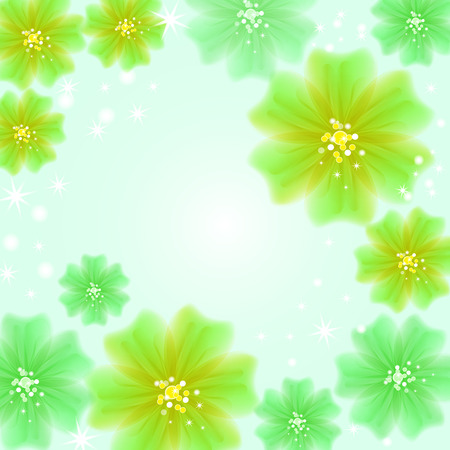 Abstract creative background in the form of bright delicate blooming flowers - Vector Graphics Banco de Imagens - 125051440
