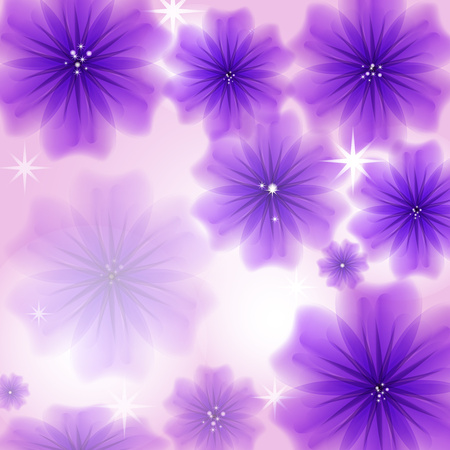 Abstract creative background in the form of bright delicate blooming flowers - Vector Graphics Banco de Imagens - 125051444