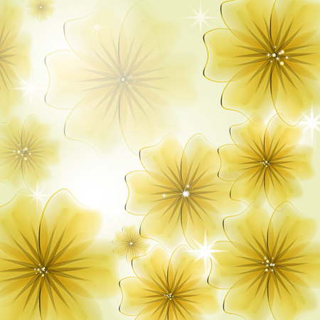 Abstract creative background in the form of bright delicate blooming flowers - Vector Graphics