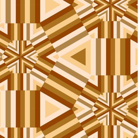 Bright geometric seamless repeating hexagon and stripes shapes pattern. Abstract background for your design. Vector illustration