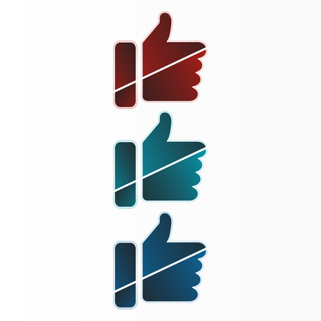 Thumb up, hand vector icon for social networking websites and mobile apps. Modern flat design. Vector graphics.