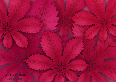Bright stylish abstract background with chestnut leaves for your design. Design for covers, posters, flyers and banners. Vector illustration Stock Vector - 124768443