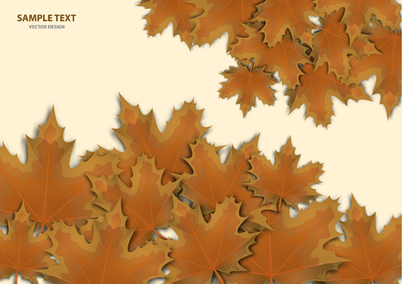Abstract background from a variety of bright maple leaves on a light background. Stylish modern design for flyers, posters, flyers, banners. Vector illustration